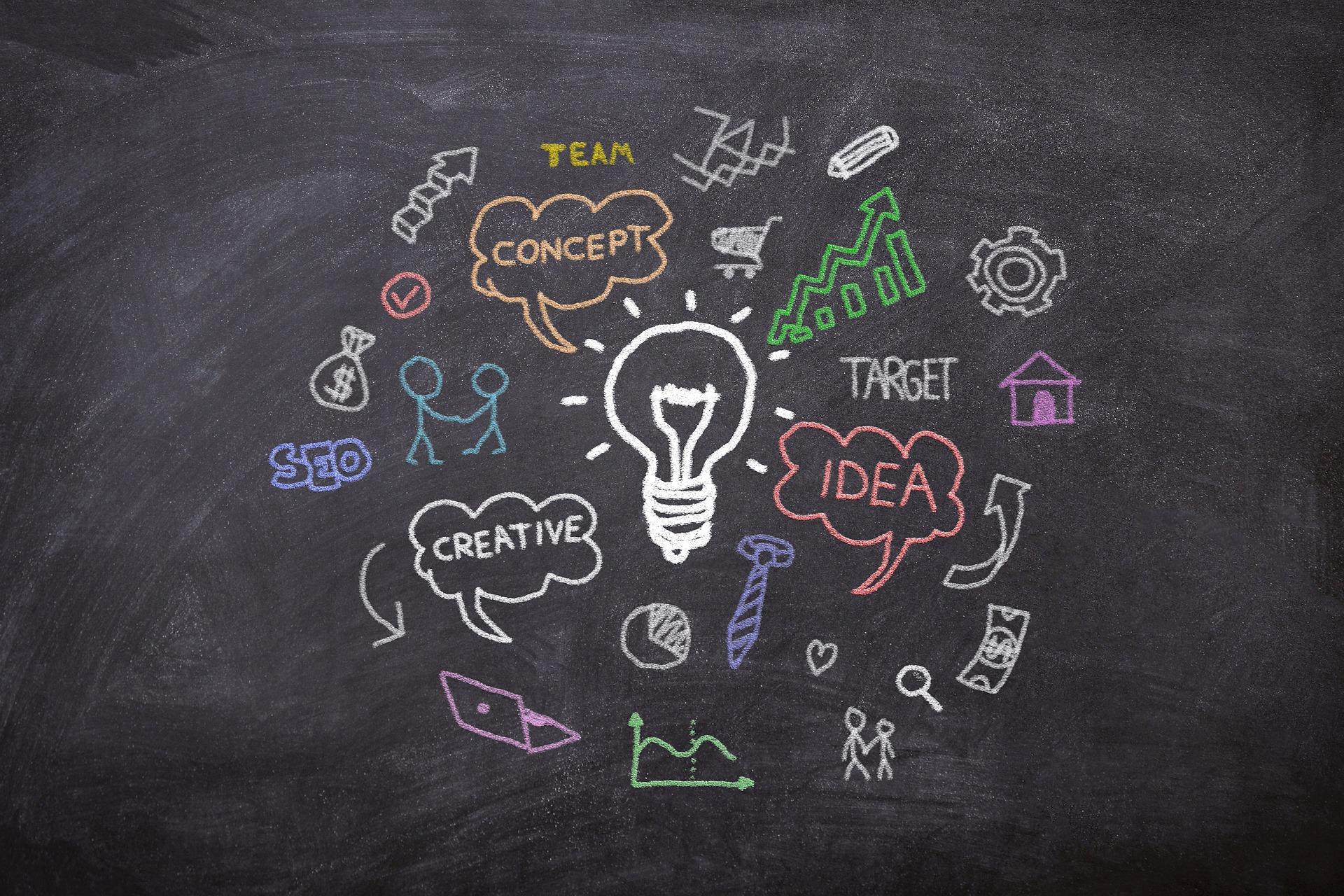 Marketing nápady koncept