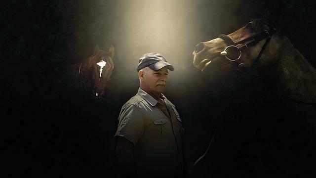 muž u koní