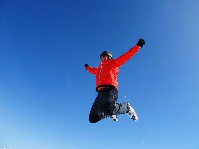 skok lyžaře