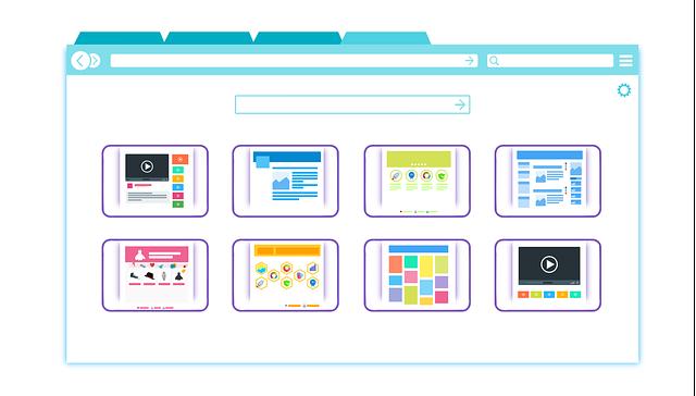 Webové stránky v prohlížeči